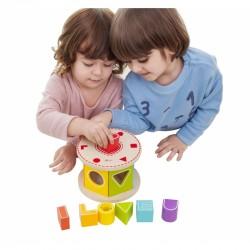 Medinis Spalvotų Formų Rūšiavimo Žaislas