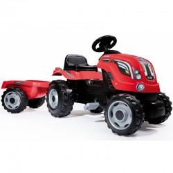 """Minamas Traktorius """"Smoby Farmer XL"""" su priekaba - raudonas"""