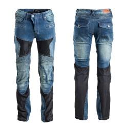 Moteriški Kevlar moto džinsai su apsaugomis W-Tec Bolftyna BlueBlack