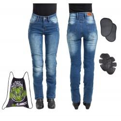 Moteriški Kevlar moto džinsai su apsaugomis W-TEC Panimali