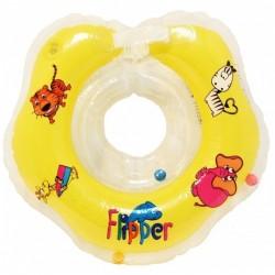 Plaukimo Ratas Kūdikiams Ant Kaklo Flipper Geltonas