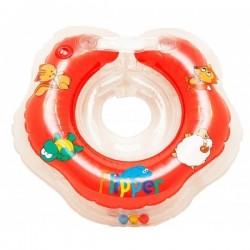 Plaukimo Ratas Kūdikiams Ant Kaklo Flipper Raudonas