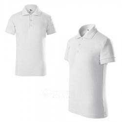 Polo marškinėliai ADLER Pique Polo White, vaikiški