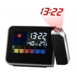 Projekcinis laikrodis su LCD ekranu ir oro sąlygų matavimu