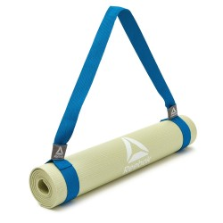 Reebok yoga and fitness carry mat strap blue