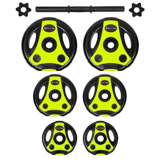 Reguliuojamo svorio hantelis inSPORTline 3–18 kg Black-Green