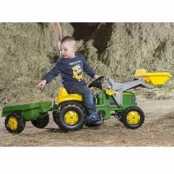Rolly Toys Minamas Traktorius John Deere su kaušu ir priekaba 2-5 m.