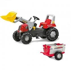 Rolly Toys Pedalinis Traktorius su Priekaba ir Kaušu, 3-8 metai, iki 50 kg.