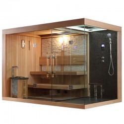 Sauna sausa AMUE-1388 šešiavietė 300x180 cm.