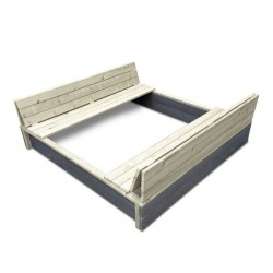 Smėlio dėžė su suoliukais ir dangčiu Exit Aksent Sandpit 132x134cm
