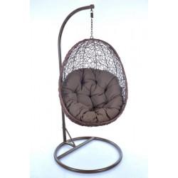 Supama kėdė - krėslas 1174 rudas