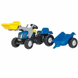 Traktorius Rolly Toys Su Kaušu Ir Priekaba New Holland
