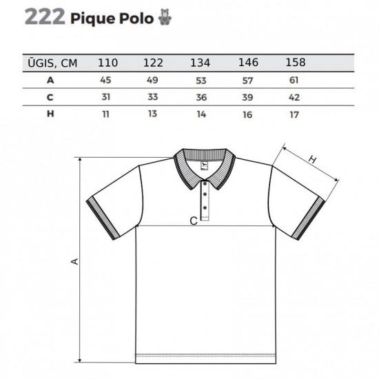 Vaikiški Polo Marškinėliai ADLER Pique Polo, Balti