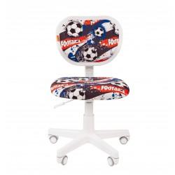 Vaikų kambario kėdė CHAIRMAN KIDS 106 Balta - Su futbolo kamuoliais