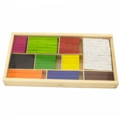 ''Viga'' matematinės edukacinės medinės lazdelės, skirtos mokytis skaičiuoti