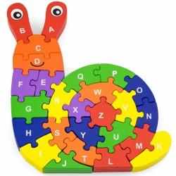 ''Viga'' sraigės formos medinis žaislas