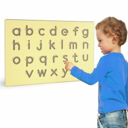 ''Viga Toys'' išmoko rašyti mažų raidžių šabloną