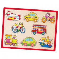''Viga Toys'' medinė transporto dėlionė