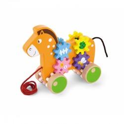 ''Viga'' traukiamasis žaislas arkliuko formos