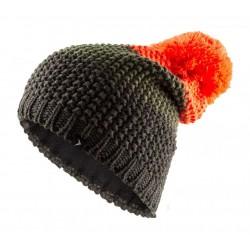 Vyriška Žieminė Kepurė OUTHORN HOZ18 CAM601, Juoda / Chaki / Oranžinė
