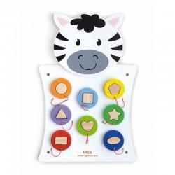 """""""Zebra Viga"""" zebro formos medinis žaislas"""